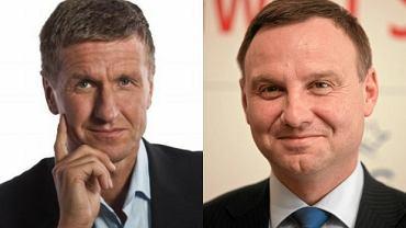 Stanisław Piechula, burmistrz Mikołowa i Andrzej Duda
