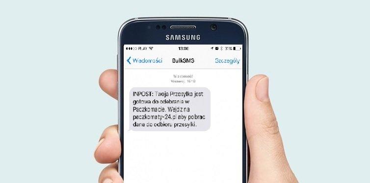 SMS ze sfałszowanej strony Paczkomatów