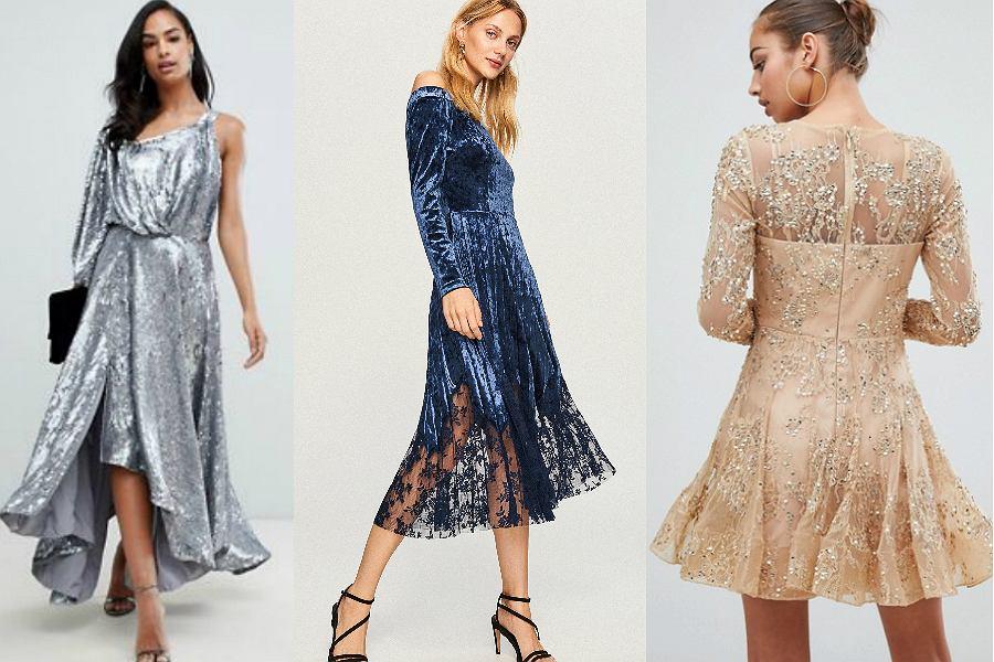 Metaliczne i aksamitne sukienki na święta są strzałem w dziesiątkę!
