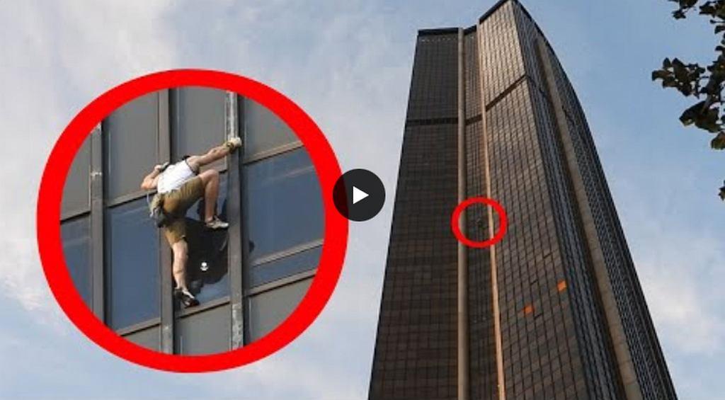 Marcin Banot wspiął się na szczyt paryskiego wieżowca Montparnasse