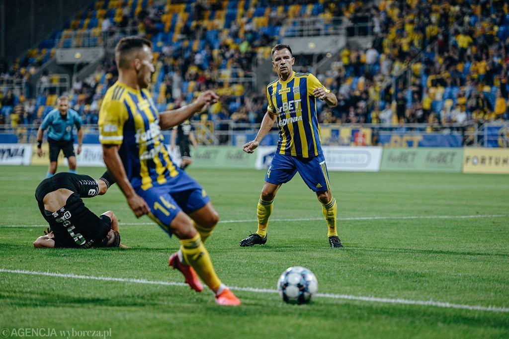 Piłkarze Arki Gdynia grali z Widzewem Łódź