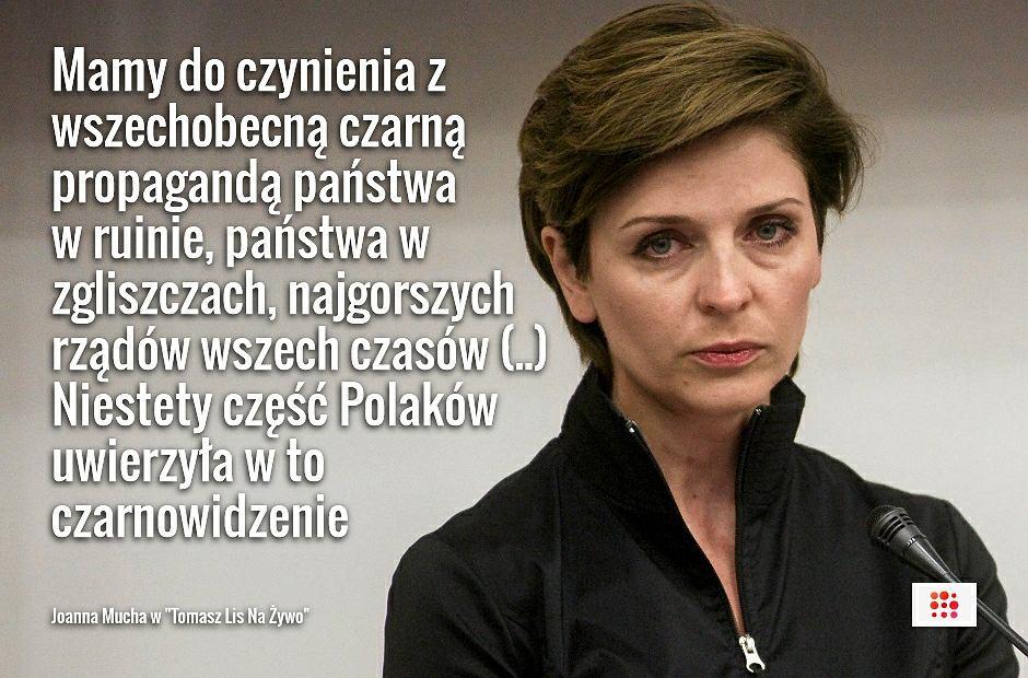 Joanna Mucha w programie 'Tomasz Lis Na Żywo'