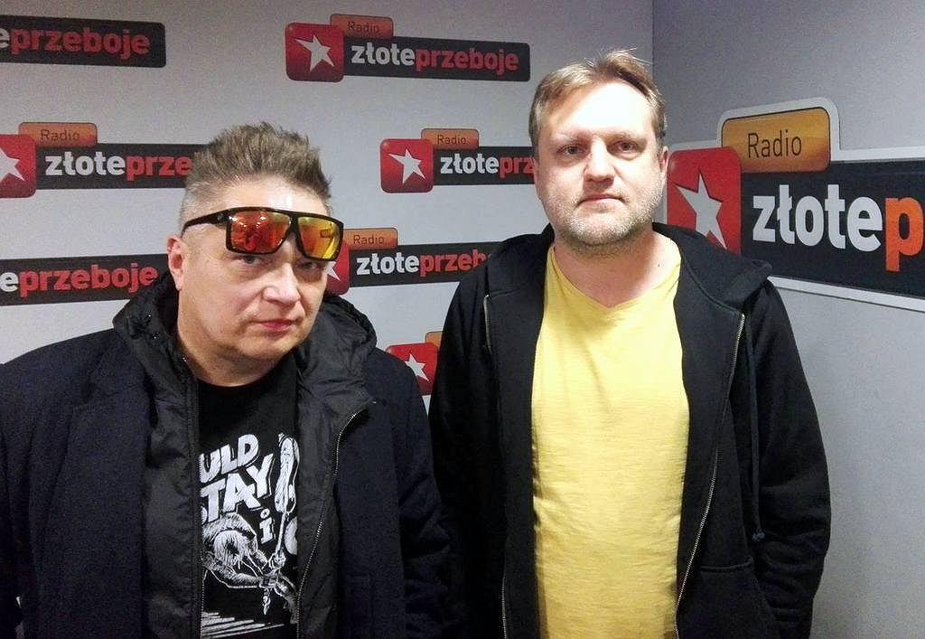 Muniek Staszczyk i Kuba Mędrzycki w studiu Radia Złote Przeboje
