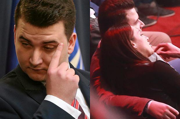 Bartłomiej Misiewicz i Ewa 'Tygrysica' Piątkowska