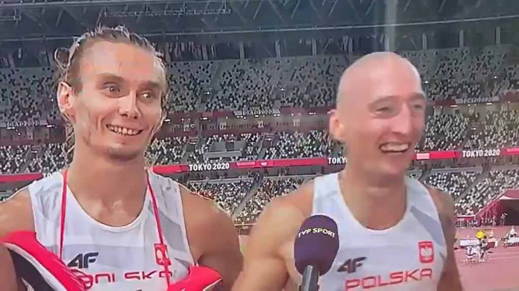 Jakub Krzewina po biegu 4x400 m