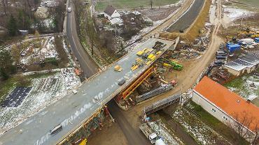 Budowa obwodnicy Bolkowa - postępy prac, zdjęcia z 18.12.2018