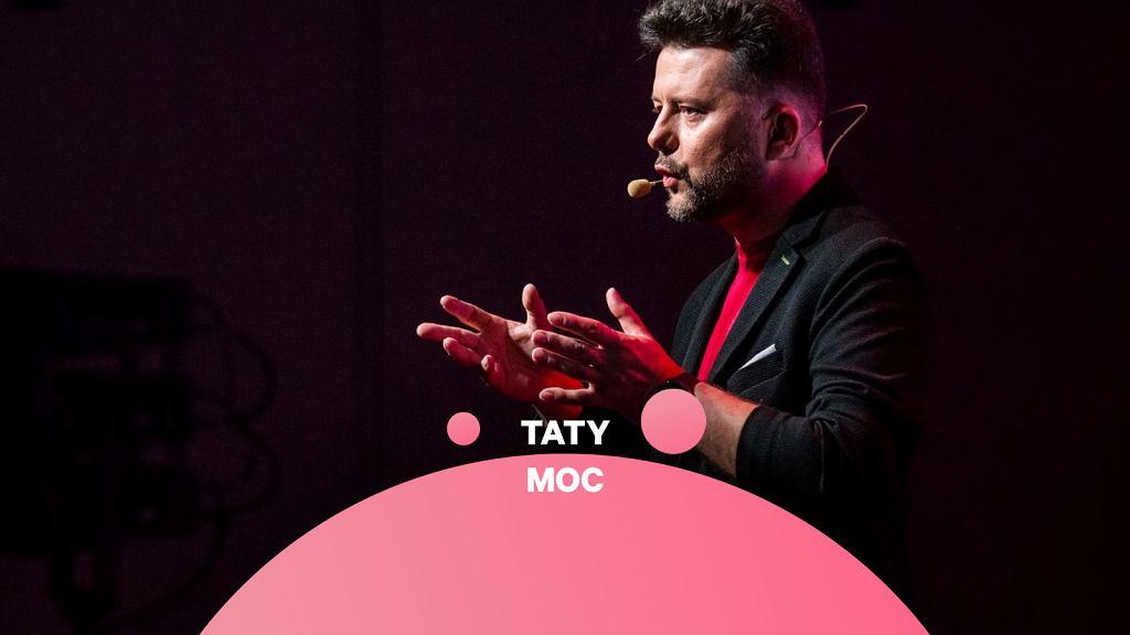 Rafał Szymański podczas wystąpienia na TEDxWarsaw