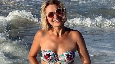 Joanna Moro w bikini w ciąży wypoczywa na urlopie