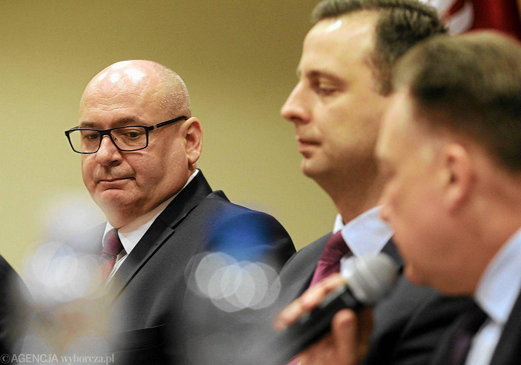 Piotr Zgorzelski, Władysław Kosiniak-Kamysz i Adam Struzik podczas konferencji