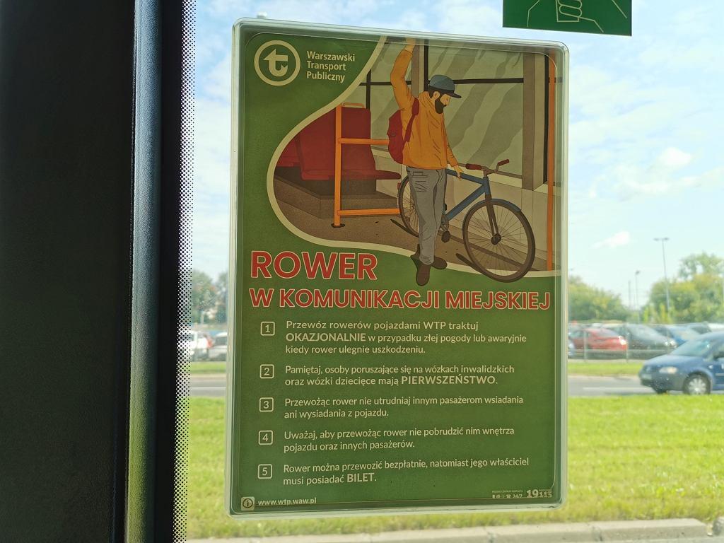 Rower w autobusie