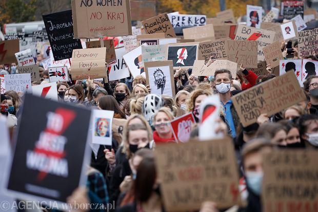 28.10.2020 Warszawa . Protest