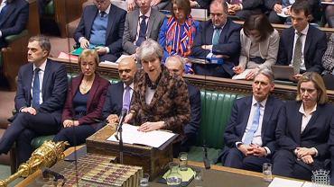 Brexit. Theresa May występuje w parlamencie