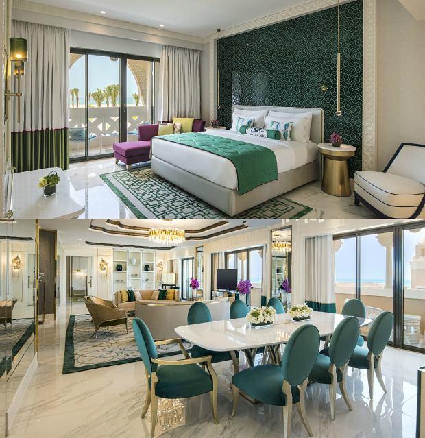Zdjęcia wnętrz apartamentu prezydenckiego Rixos Saadiyat Island