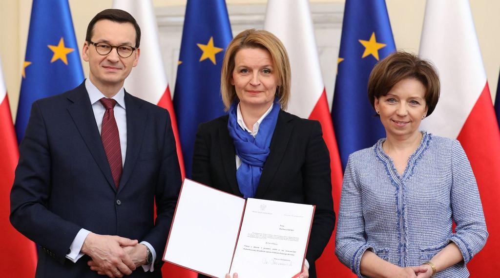 Premier Morawiecki powołał nową pełnomocnik rządu ds. polityki demograficznej. To Barbara Socha