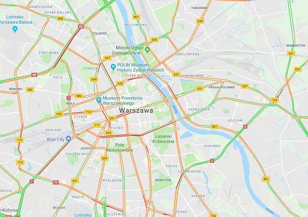 Korki w Warszawie w związku z konferencją bliskowschodnią