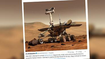 Koniec 15-letniej misji na Marsie. Łazik Opportunity zakończył swój żywot