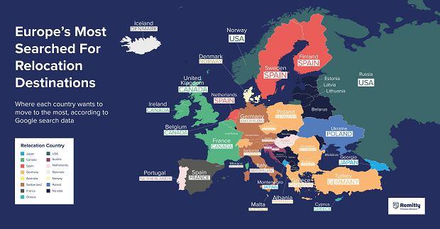Mieszkańcy Europy Środkowej chcieliby się przeprowadzić do Niemiec