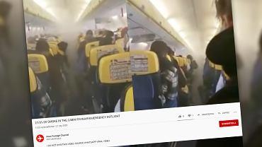 Samolot Ryanaira musiał awaryjnie lądować z powodu zadymienia kabiny