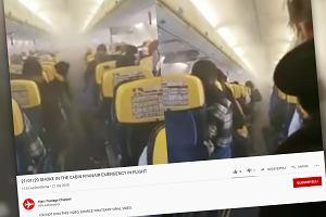 Samolot Ryanaira musiał awaryjnie lądować. Kabinę nagle wypełnił dym