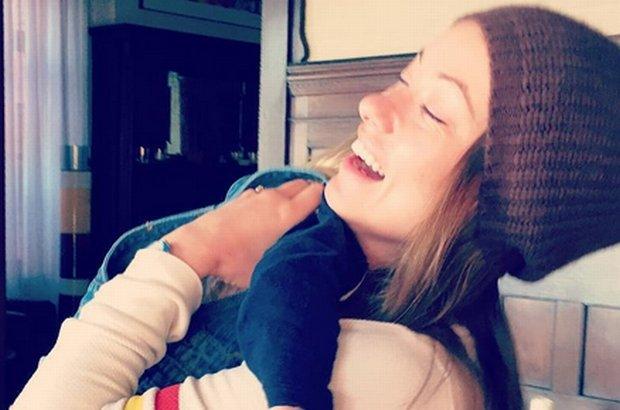 Olivia Wilde z synem