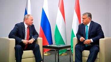 Prezydent Rosji Władimir Putin na i Wiktor Orban podczas spotkania w Budapeszcie, sierpień 2017.