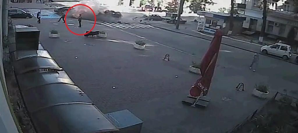 Eksplozja auta w centrum Kijowa