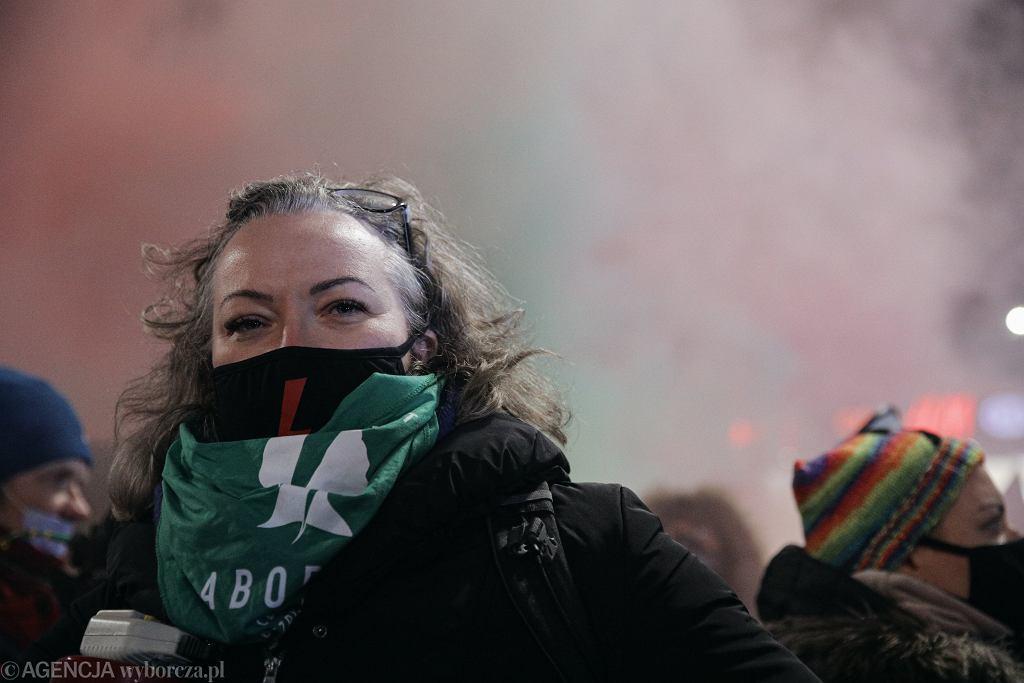 Marta Lempart podczas protestu Ogólnopolskiego Strajku Kobiet 'Aborcja: Czas Próby!'. 29.01.2021, Warszawa