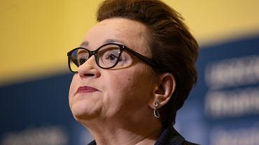 Minister edukacji narodowej Anna Zalewska podczas konferencji prasowej, na której minister Zalewska wygłosiła apel do nauczycieli w związku z planowanym przez nich strajkiem (fot: Dawid Zuchowicz/Agencja Gazeta)