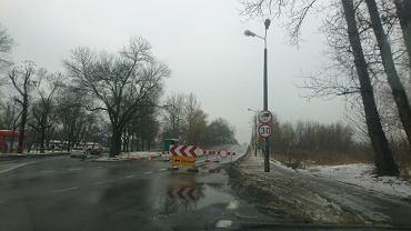 Zamknięty wiadukt na ul. Mikołajczyka w Sosnowcu