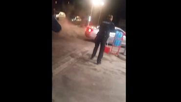 Zdarzenie na stacji paliw w Rymaniu