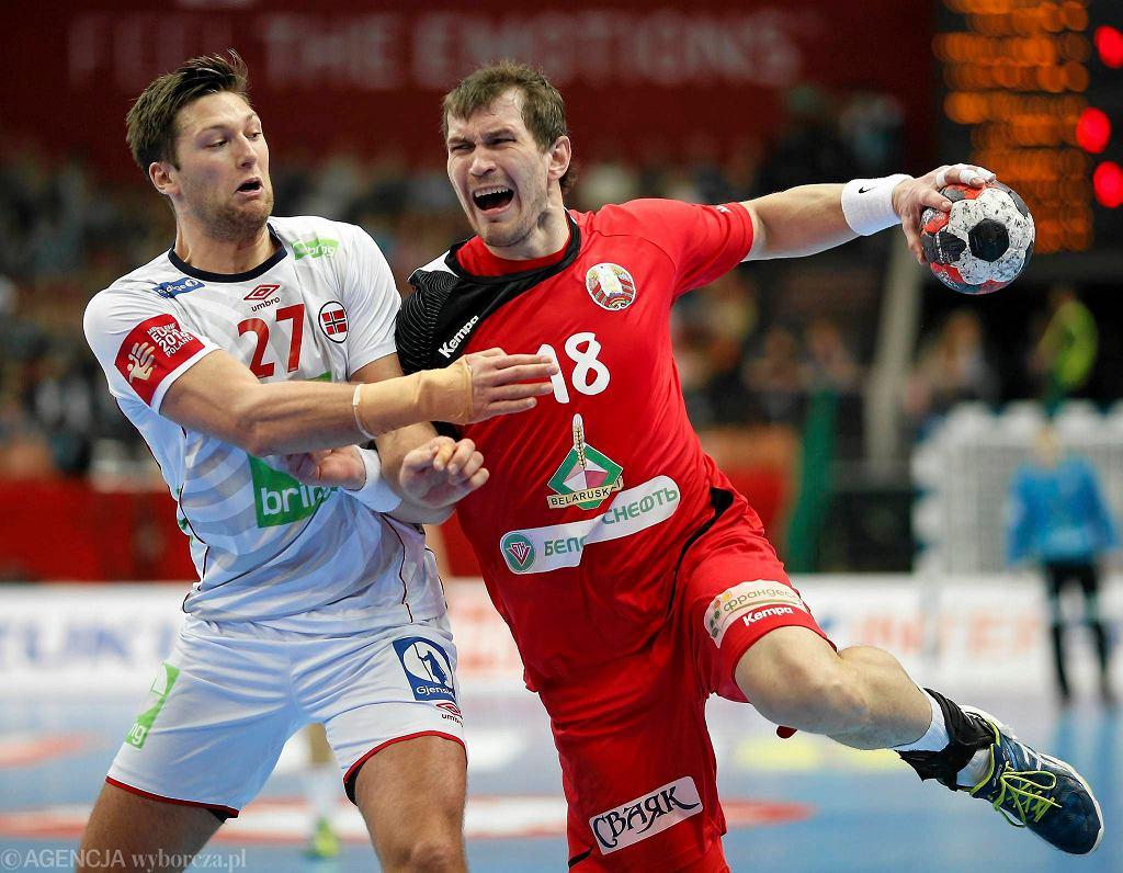 Mistrzostwa Europy w piłce ręcznej mężczyzn 2016. Mecz Białoruś - Norwegia w Spodku