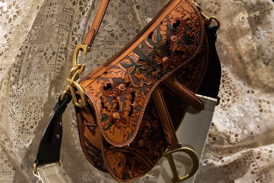 koniakowa torebka saddle bag Dior