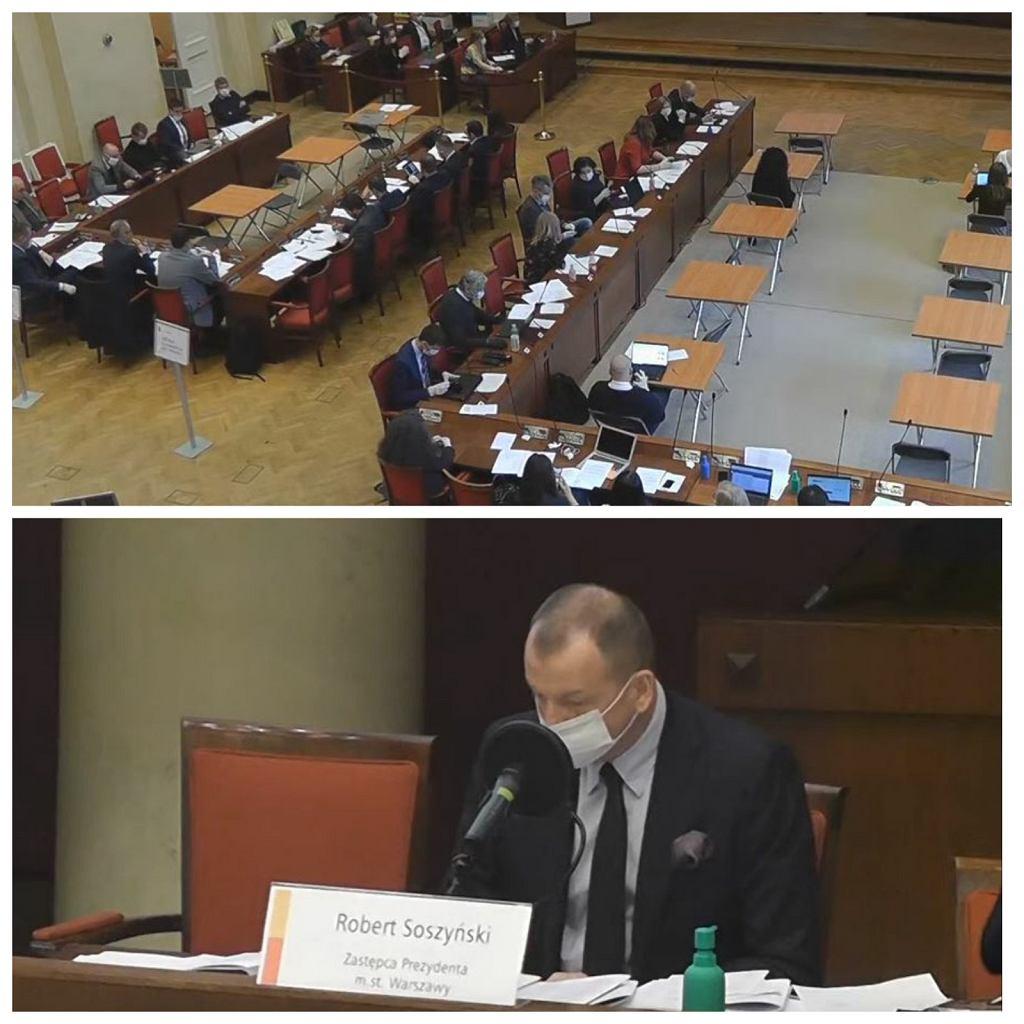 Posiedzenie Rady Warszawy w czasie stanu zagrożenia epidemicznego