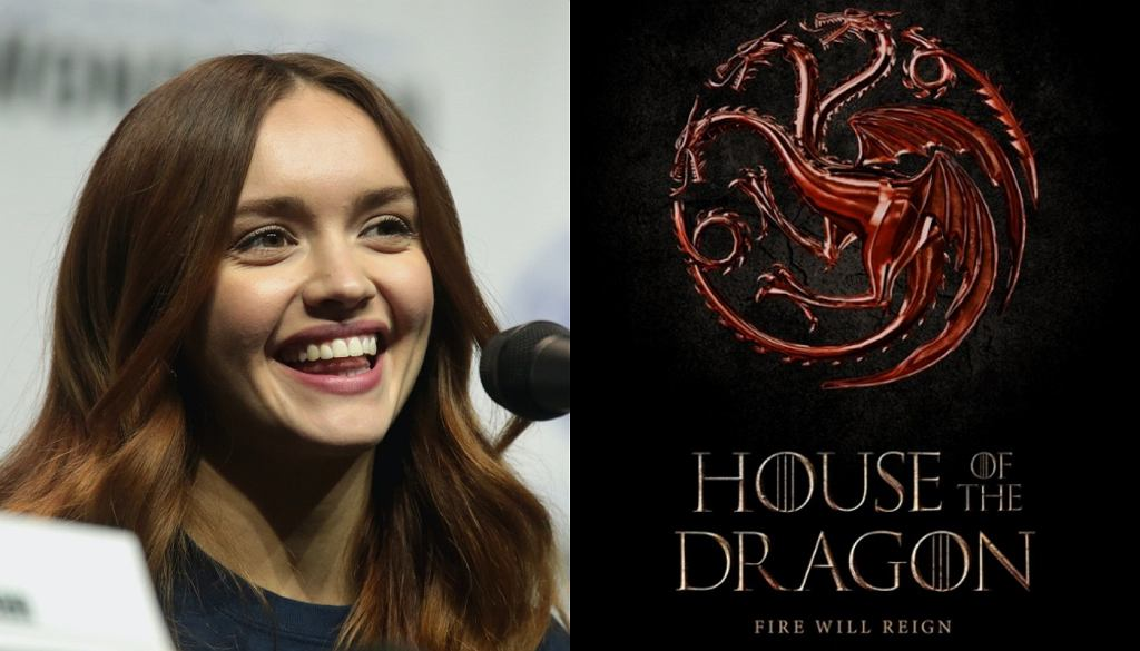 Olivia Cooke / plakat promujący 'House of the Dragon'