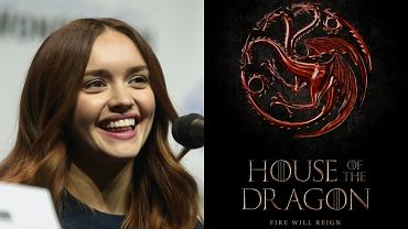 Olivia Cooke / plakat promujący 'House of the Dragon'