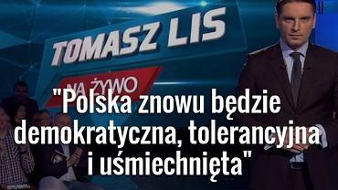 """Ostatni odcinek programu """"Tomasz Lis na żywo"""""""