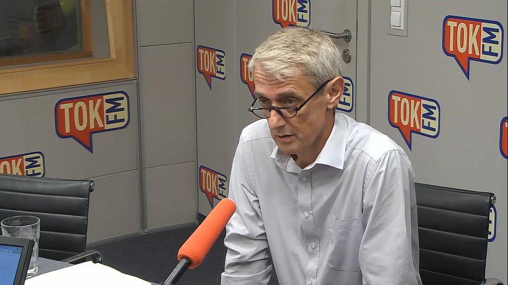 Michał Laskowski w studiu TOK FM.