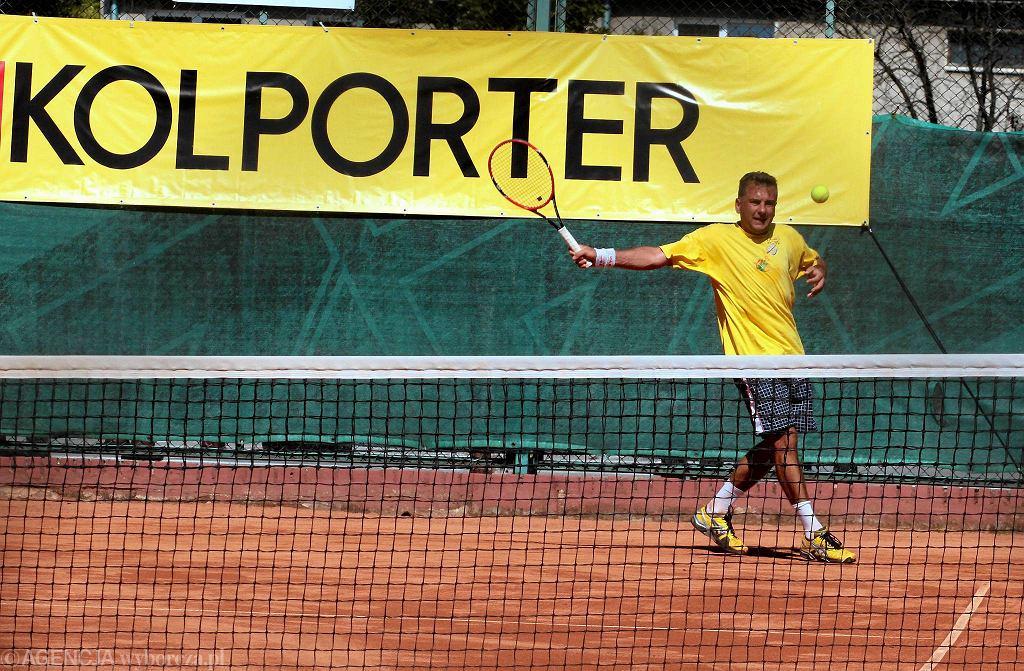 Tenisowy turniej Kolportera na kortach Tęczy w Kielcach