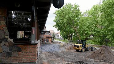 Remont parku Podzamcze w Olsztynie