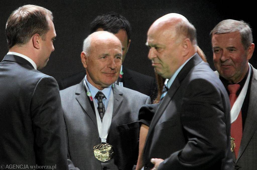 Orest Lenczyk i prezes PZPN Grzegorz Lato