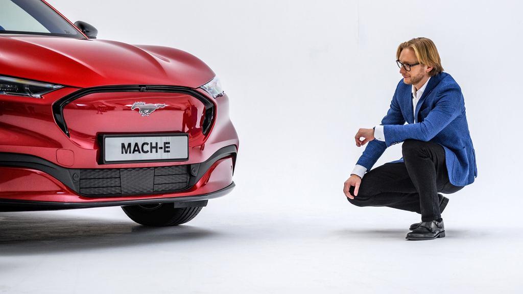 Ford Mustang Mach-E i Piotr Pawlak