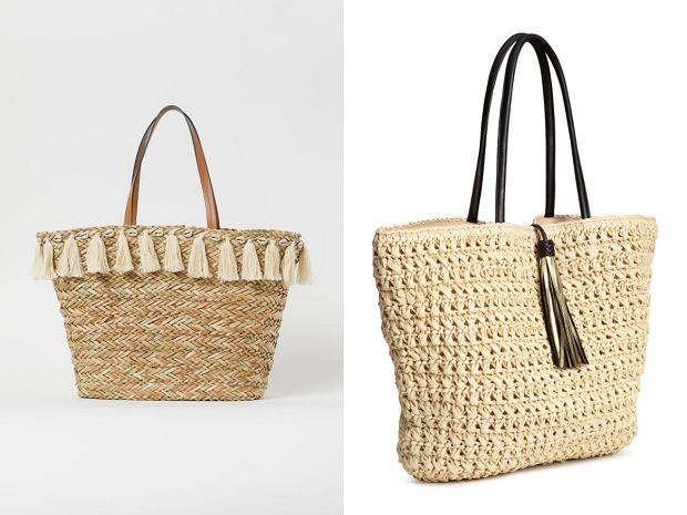 plecione torebki h&m shopper
