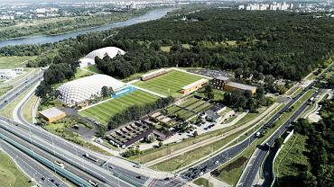 Hutnik Warszawa - wizualizacja nowego stadionu z całym kompleksem sportowym
