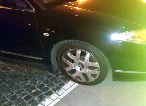Kolorowanka za złe parkowanie
