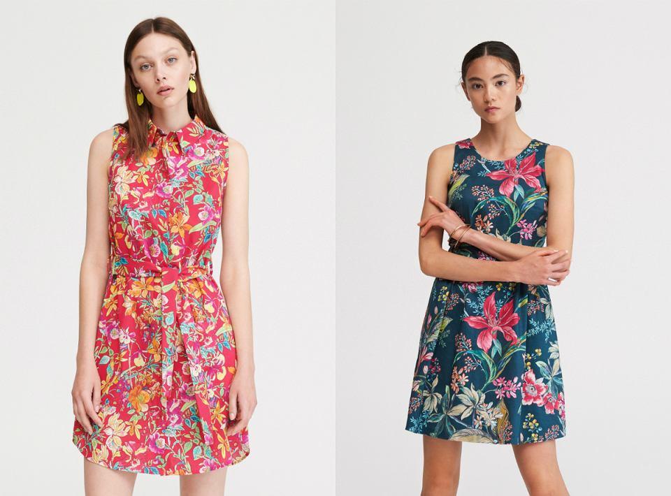 Dopasowana sukienka w kwiaty Reserved