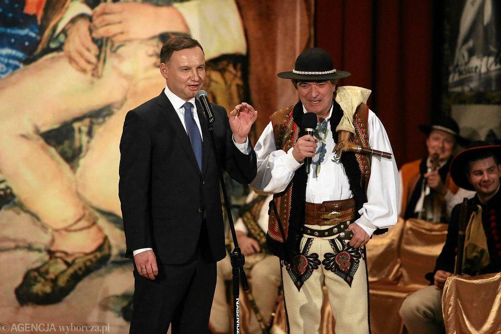 Jan Karpiel-Bułecka z prezydentem Andrzejem Dudą, pod którego honorowym patronatem organizowany jest 27. Międzynarodowy Festiwal Muzyki Sakralnej 'Gaude Mater'