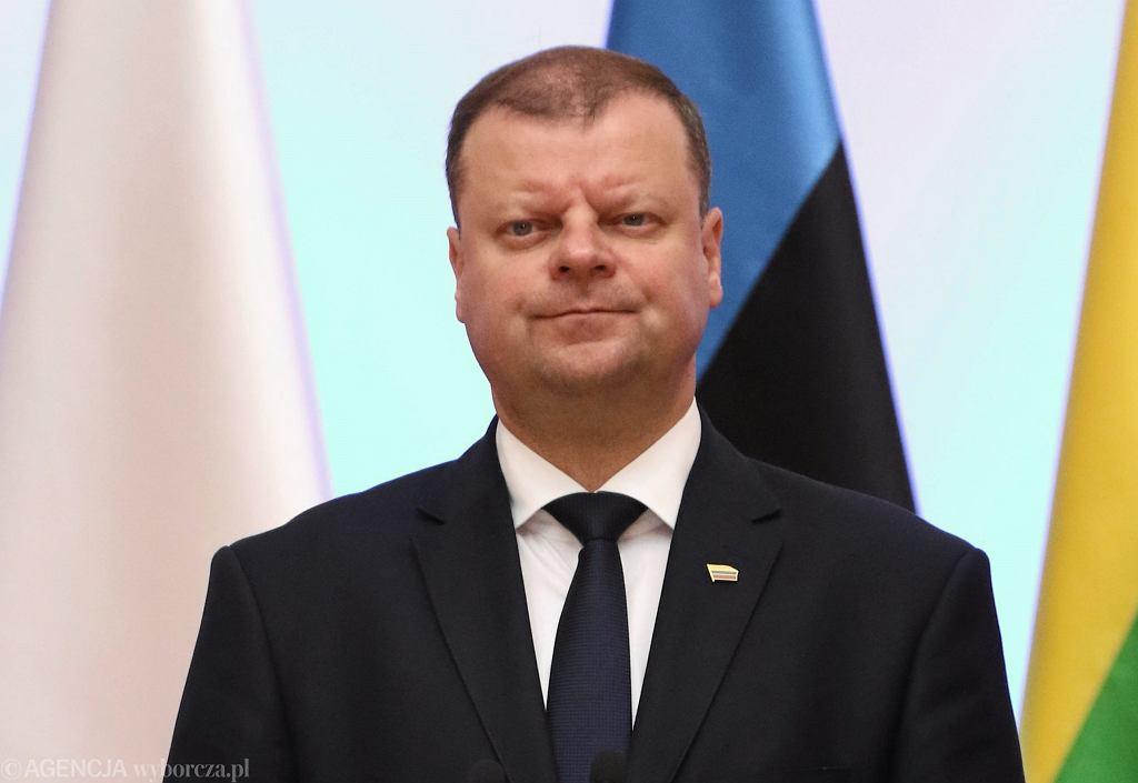 Premier Litwy Saulius Skvernelis Człowiekiem Roku Forum Ekonomicznego w Krynicy 2018