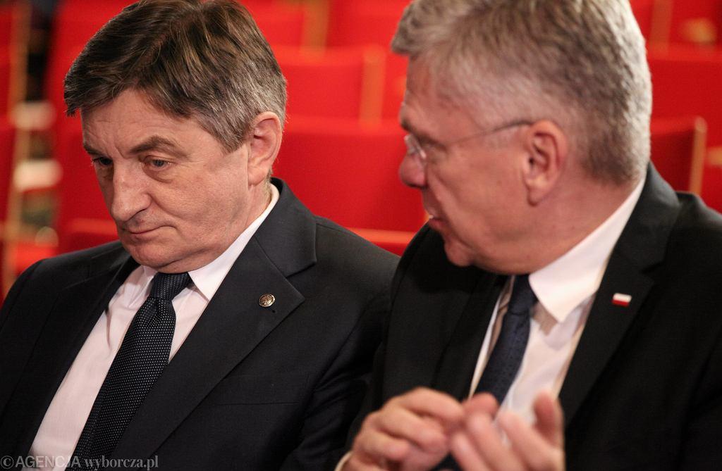 Marek Kuchciński i Stanisław Karczewski