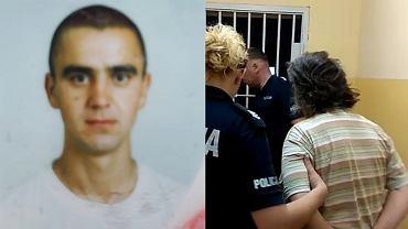 Zmarły Wasyl Czornej (z lewej) i jego pracodawczyni Grażyna F. (z prawej) po zatrzymaniu przez policję