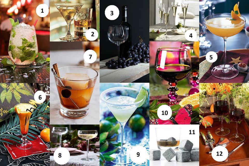 Wybrane kieliszki do różnych rodzajów alkoholu
